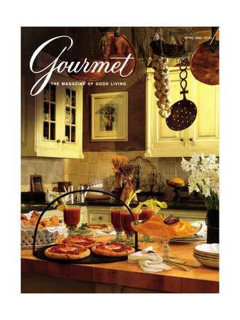 Gourmet Cover - April 1992 Giclee Print by Romulo Yanes