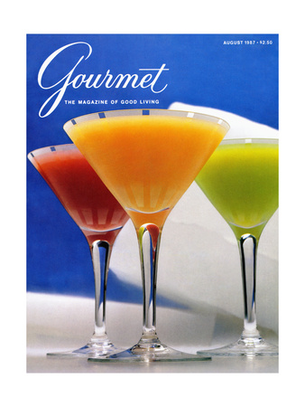 Gourmet Cover - August 1987 Giclee Print by Romulo Yanes