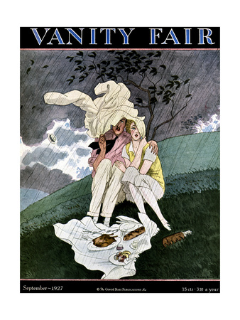 Vanity Fair Cover - September 1927 Giclee Print by Pierre Brissaud