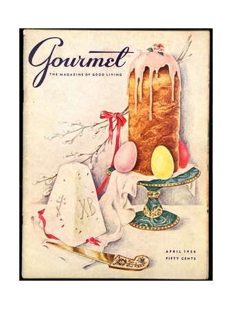 Gourmet Cover - April 1956 Giclee Print by Hilary Knight