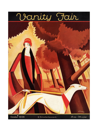 Vanity Fair Cover - October 1926 Giclee Print by Victor Bobritsky