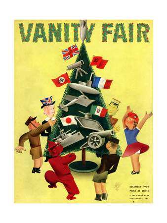 Vanity Fair Cover - December 1934 Giclee Print by  Garretto