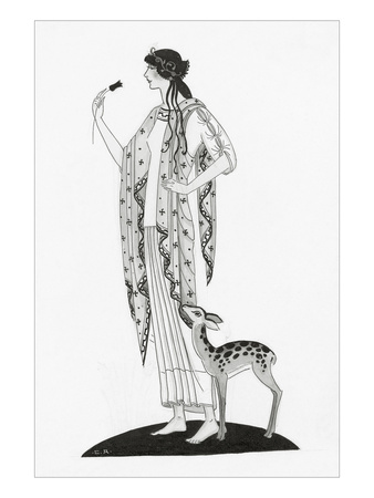 Vogue - February 1921 Giclee Print by Claire Avery