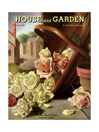 House & Garden Cover - June 1935 Giclee Print by John C. E. Taylor