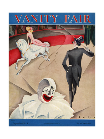 Vanity Fair Cover - September 1925 Giclee Print by William Bolin