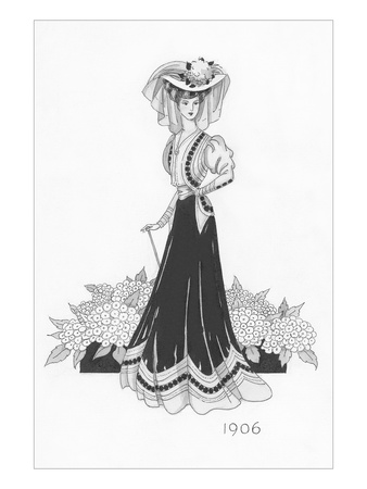 Vogue - October 1934 Giclee Print by Claire Avery