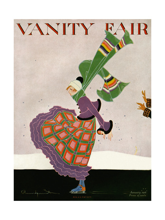 Vanity Fair Cover - January 1916 Giclee Print by Ethel Rundquist
