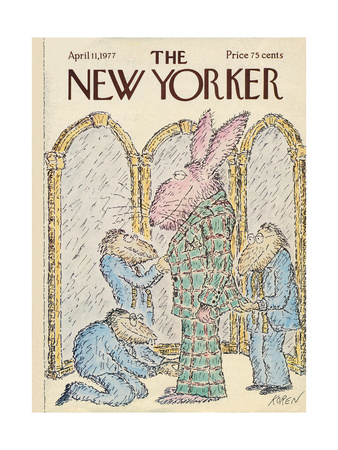 The New Yorker Cover - April 11, 1977 Giclee Print by Edward Koren