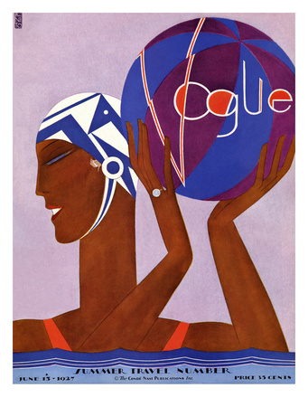 Vogue Cover - June 1927 Regular Giclee Print by Eduardo Garcia Benito