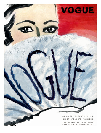 "Vogue Cover - June 1932 Giclee Print by Carl ""Eric"" Erickson"
