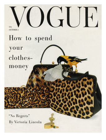 Vogue Cover - October 1958 - Animal Accessories Giclee Print by Richard Rutledge