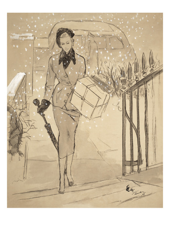 "Vogue - December 1948 Giclee Print by Carl ""Eric"" Erickson"