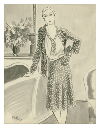 "Vogue - August 1929 Giclee Print by Carl ""Eric"" Erickson"