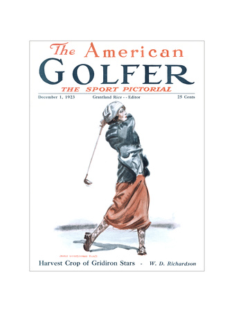 The American Golfer December 1, 1923 Giclee Print by James Montgomery Flagg