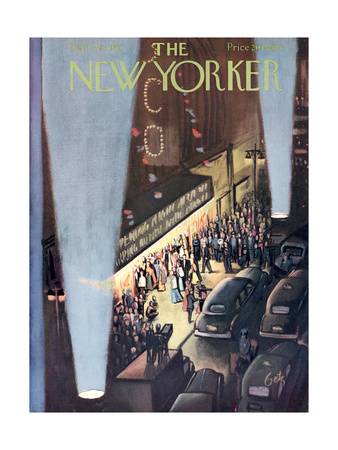 The New Yorker Cover - September 26, 1953 Regular Giclee Print by Arthur Getz