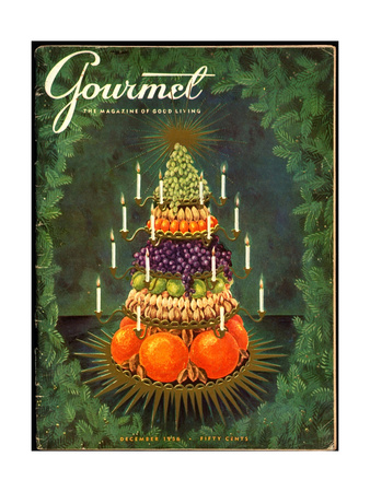 Gourmet Cover - December 1956 Giclee Print by Hilary Knight