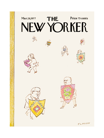 The New Yorker Cover - March 28, 1977 Giclee Print by Douglas Florian