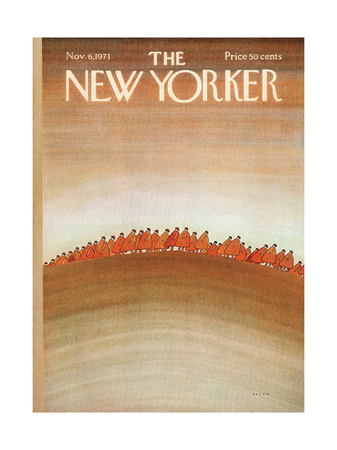 The New Yorker Cover - November 6, 1971 Giclee Print by Jean Michel Folon