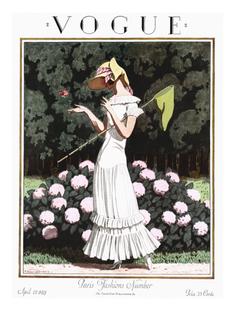 Vogue Cover - April 1924 Giclee Print by Pierre Brissaud