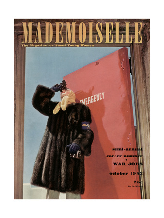 Mademoiselle Cover - October 1942 Giclee Print by Luis Lemus