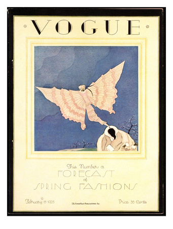 Vogue Cover - February 1925 Giclee Print by Charles Martin