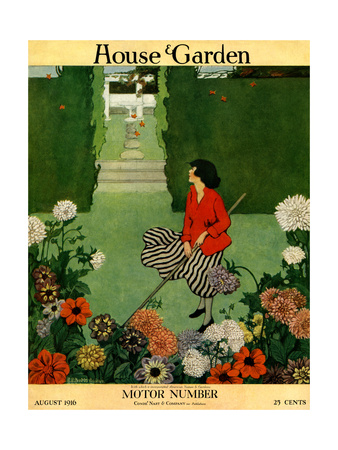 House & Garden Cover - August 1916 Giclee Print by Ethel Franklin Betts Baines