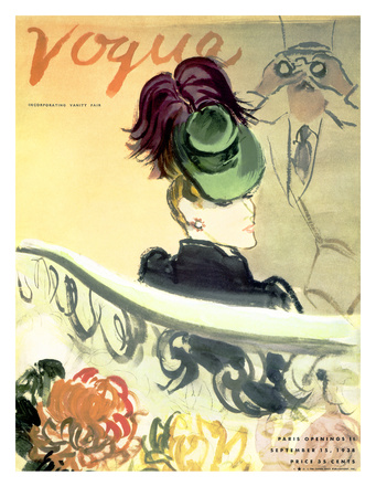 "Vogue Cover - September 1938 Giclee Print by Carl ""Eric"" Erickson"