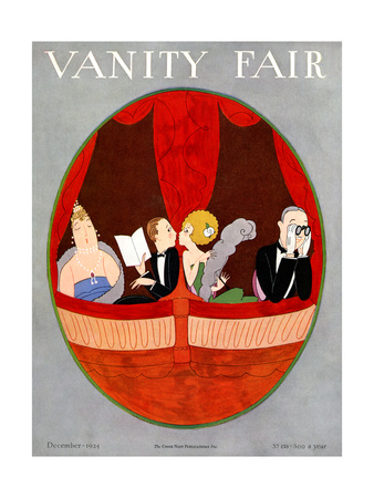 Vanity Fair Cover - December 1924 Giclee Print by A. H. Fish