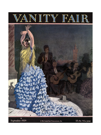 Vanity Fair Cover - September 1929 Giclee Print by Pierre Brissaud