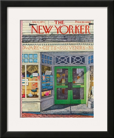 The New Yorker Cover - July 8, 1974 Framed Giclee Print by Albert Hubbell