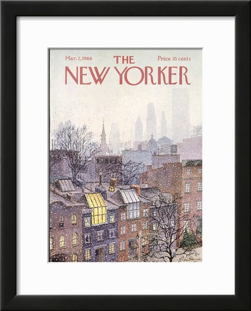 The New Yorker Cover - March 2, 1968 Framed Giclee Print by Albert Hubbell