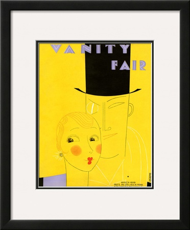 Vanity Fair Cover - March 1929 Framed Giclee Print by Eduardo Garcia Benito