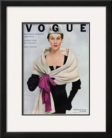Vogue Cover - November 1952 Framed Giclee Print by Frances Mclaughlin-Gill