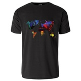 World Watercolor Map 12 T-Shirt Shirts