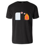 Paper in Foolish Love with Fire T-Shirt T-Shirt