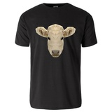 Portrait of Cow Polygonal Style T-Shirt T-Shirt