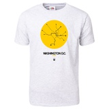 Washington D.C. Yellow Subway Map T-Shirt T-shirts