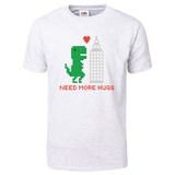 Need More Hugs T-Rex and Skyscraper T-Shirt T-shirts