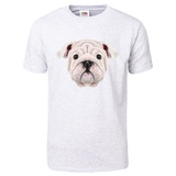 Illustrated Portrait of English Bulldog Puppy T-Shirt T-Shirt