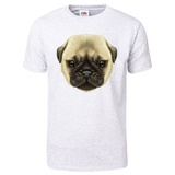 Illustrated Portrait of Pug Puppy T-Shirt Shirts