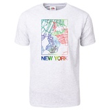 New York Watercolor Street Map T-Shirt T-Shirt