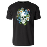 Watercolor Human Skull T-Shirt T-shirts
