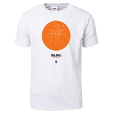 Beijing Orange Subway Map T-Shirt T-shirts