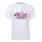 Vintage Garden Watercolor Spring Bouquet with Pink Flowers Blooming T-Shirt T-shirts