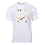 Bike in Colorful Stripes T-Shirt T-Shirt