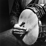 Country Music: Close Up of Banjo Being Played Photographic Print by Eric Schaal