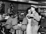 Couple Dancing at Rosie's Cafe Premium Photographic Print by Carl Mydans