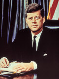 "Portrait of President John F. Kennedy, from the TV Show, ""JFK Assassination as It Happened"" Photographic Print by Alfred Eisenstaedt"