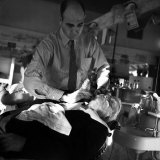 Vice President John Garner Being Shaved by the Barber Photographic Print by Bernard Hoffman
