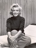 Portrait of Marilyn Monroe at Home Metal Print by Alfred Eisenstaedt